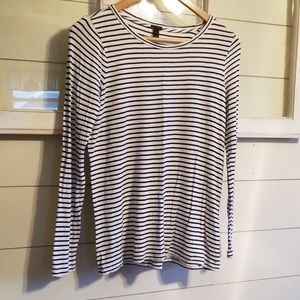 J. Crew .. Striped Long Sleeve .. Sz Small